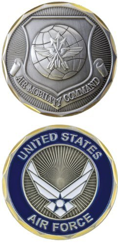 (United States Military US Armed Forces Air Force Air Mobility Command - Good Luck Double Sided Collectible Challenge Pewter Coin)