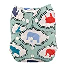 Alva Baby New Design Reuseable Washable Pocket Cloth Diaper Nappy + 2 Inserts H007