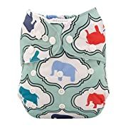 ALVABABY New Design Reuseable Washable Pocket Cloth Diaper Nappy + 2 Inserts H007