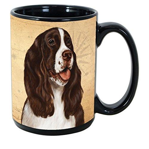 Imprints Plus Dog Breeds (R-Z) Springer Spaniel Liver15-oz Coffee Mug Bundle with Non-Negotiable K-Nine Cash (springer spaniel 175) Dog Breeds Springer Spaniel