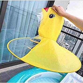 Transparent Raincoat,M Childrens Duck Raincoat UFO Raincoat Children Umbrella Cartoon Cloak for Kids