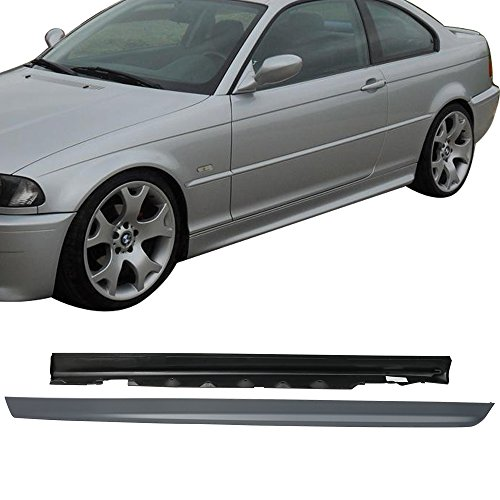 Bmw E46 Side Skirts - Side Skirts Fit 2000-2006 BMW E46 3 Series | Gary PP M-Tech Msport Left Hand Right Hand Underboard Extension Replacement by IKON MOTORSPORTS | 2001 2002 2003 2004 2005