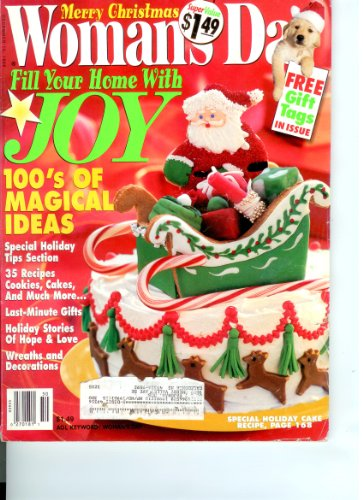Womans Day Magazine December 15, 1998 Merry Christmas (Poinsettia Day)