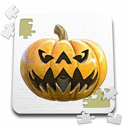 Boehm Graphics Holiday Halloween - Jack O Lantern Lighter Pumpkin - 10x10 Inch Puzzle