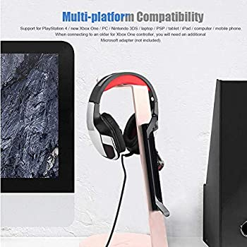 ASHATA Gaming Headphone,Super Bass USB + 3.5mm 4Pin Anti-Noise Gaming Headset Free Volume Control,Humanized Design E-Sports Wired Headset with Surrounding Sound,Isolation Noise