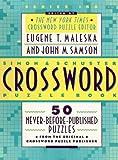 Simon and Schuster Crossword Puzzle Book, Eugene T. Maleska, 0671892681