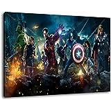 Marvel Heroes Taille 120x80 cm peinture sur toile, XXL énormes images complètement encadrées avec civière, le mur cadre photo de feuille