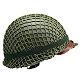 Replica WW2 US M1 Helmet Steel Field Green with Net