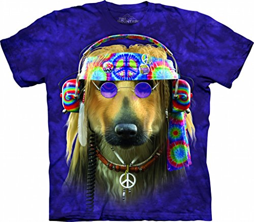 The Mountain Groovy Dog Adult T-Shirt, Purple, 3XL