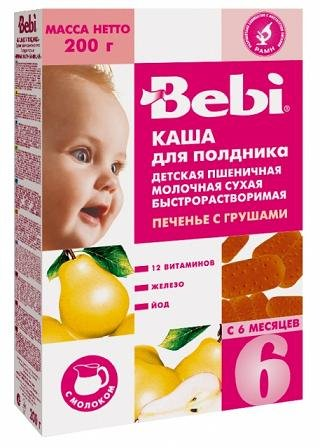 Bebi - Baby Milk Porridge with Pear for Afternoon Snack from 6 Monts 200g
