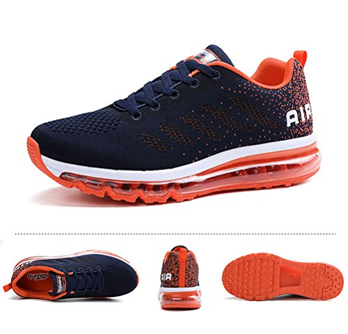Ginnastica Corsa all'Aperto Sportive Fitness Scarpe Basse Interior Running da Donna Casual Sneakers Uomo Orange Air Blue qwOHfIyX