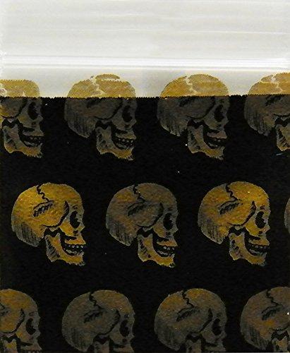 Gold Skull 12510 Gold Skull 2.5 mil Apple Bag Mini Ziplock Reclosable 100 Baggies Clear Color Colored 100 Bags 12510 1.25x1 Original Apple Brand Mini Ziplock Bags