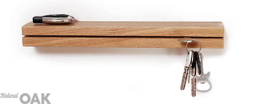 Panello Portachiavi da Muro Appendi-Chiavi da Parete in Legno di Quercia Home Ingresso Mensole Appendiabiti Attaccapanni Design Moderno per Casa Moderne Chiave Regalo