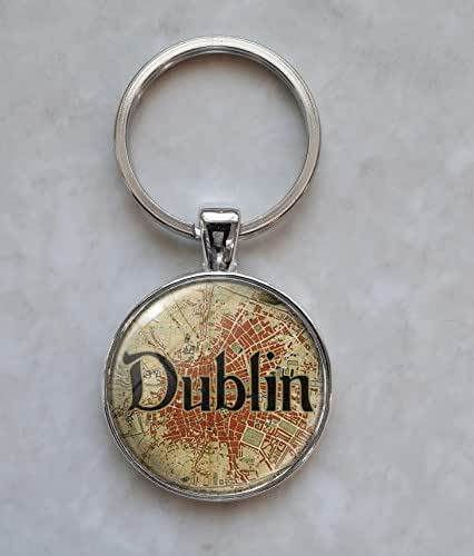 Dublin 1851 Map Keychain