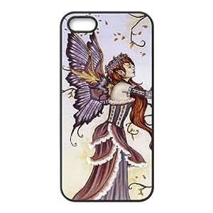 iPhone 5 5s Cell Phone Case Black Dragon Charmer Fairy Fdukl
