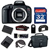 Canon EOS Rebel T7i Digital SLR Camera Body Only - Built-In Wi-Fi with NFC, Bluetooth with 32GB Class 10 Memory Card, Wireless Remote & 100ES Shoulder Bag
