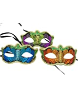 Glitter Venetian Mask (Colors May Vary)