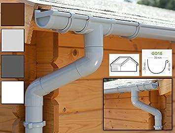 Zink Dachrinnen//Regenrinnen Set 2 Dachseiten RAL7024 Komplettes Set bis 3.40 m Type 110 | in Titanzink//Verzinkt//Anthrazit Anthrazit Satteldach Ideal f/ür Gartenhaus oder Blockhaus.