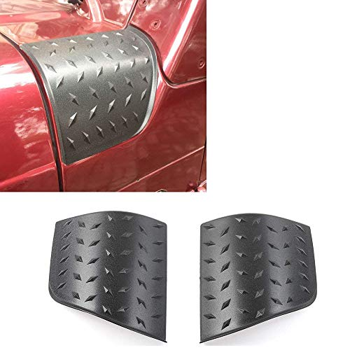 kkone New Black Cowl Body Armor Cowling Cover for 1997-2006 Jeep Wrangler TJ Rubicon Sahara Sport X & Unlimited 2/4 Door- Pair (Pointer)