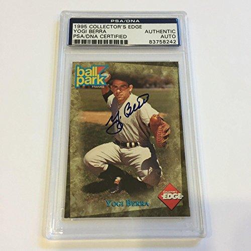 Collectors Autographed Card Edge (1995 Collectors Edge Yogi Berra Signed Autographed Baseball Card - PSA/DNA Certified - Baseball Slabbed Autographed Cards)