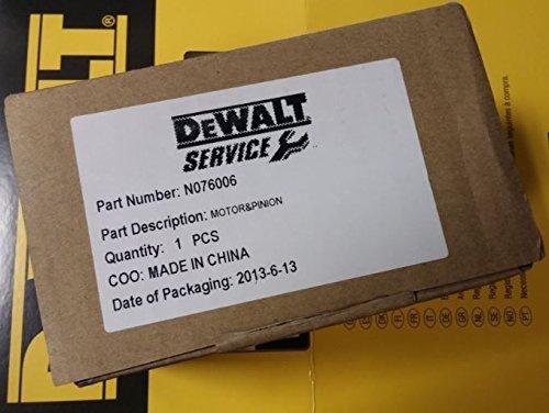 DEWALT N076006 Motor And Pinion