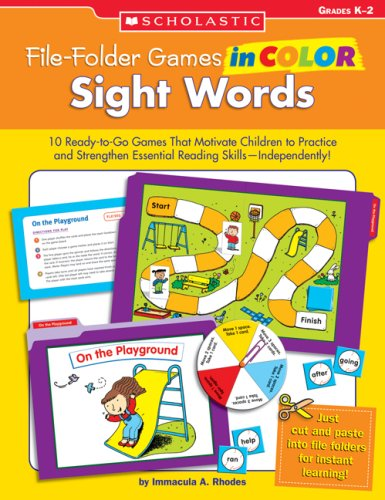 File-Folder Games in Color: Sight Words: 10 Ready-to-Go Games That Motivate Children to Practice and Strengthen Essential Reading Skills—Independently!]()