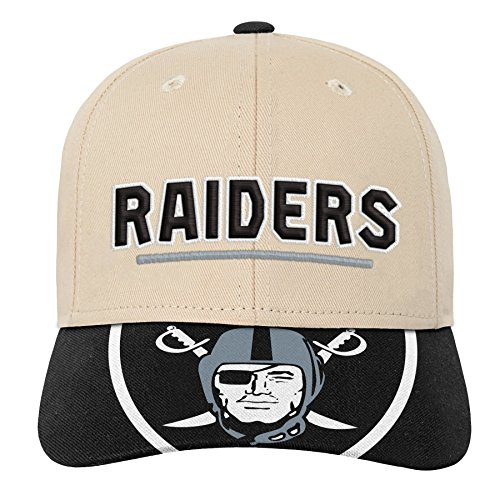 Outerstuff NFL NFL Oakland Raiders Youth Boys Retro Style Logo Structured Hat Black, Youth One Size