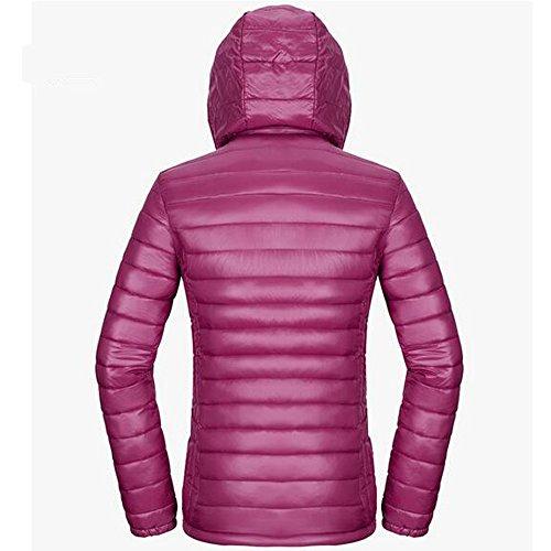 Cotton Coat Purple Ultra Women's Winter Jacket Deep KINDOYO Light Down Puffer vnFE88x