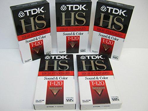 TDK HS T-120 High Standard VHS 5 Pack