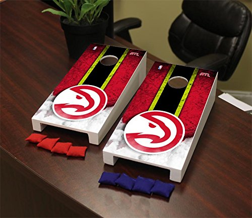 Victory Tailgate Atlanta ATL Hawks NBA Desktop Mini Cornhole Game Set by Victory Tailgate