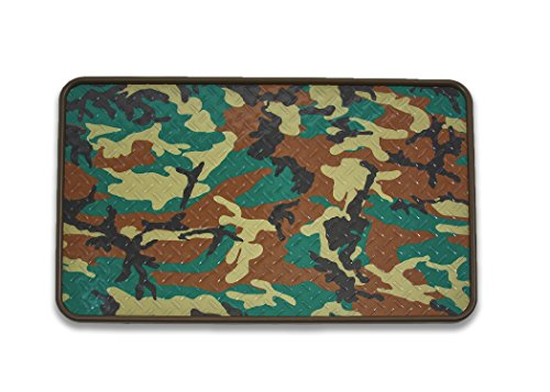 Resilia - Premium Boot Tray, Shoe Tray, and Floor Mat - Cammo Print Insert with a Brown Tray, 17 Inches x 28 Inches, Made in The USA