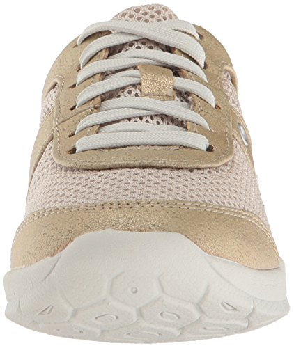 Easy Spirit Womens Gogo2 Fashion Sneaker Light Gold/Light Natural Synthetic