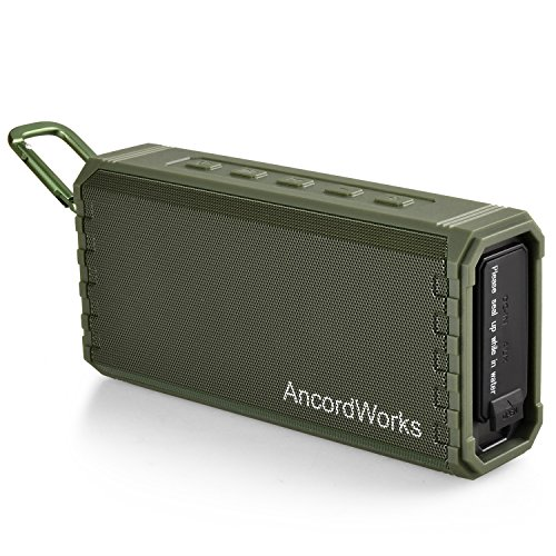 AncordWorks Portable Bluetooth Speaker Hi-Fi Sound Bass Enhance 20 Wattage IPX7 Water Resistant Floating Shelf Twenty Four Hour Playtime Perfect Wireless Speaker for Home Outdoors ()