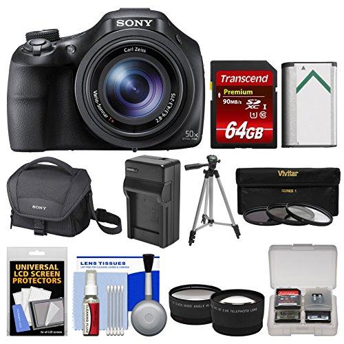 Sony Cyber-Shot DSC-HX400V Wi-Fi Digital Camera with 64GB Ca