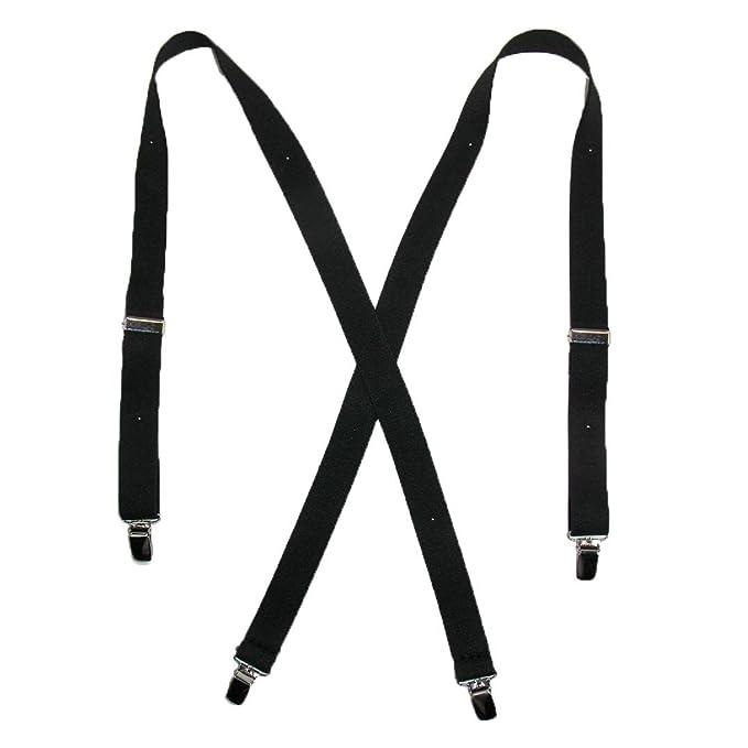 0a7490cd8 CTM Women s Elastic Clip-End 1 Inch Basic Suspenders