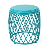 GDF Studio Alameda Outdoor 15 Inch Lattice Iron Side Table (Matte Teal) Review