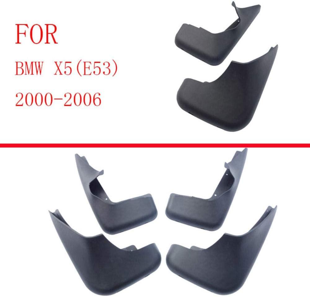 F/ür BMW X5 E53 2000-2006 Vorne Hinten Spritzschutz Set Schrauben Verbesserte Fender Styling /& Body Fittings Mud Flaps Splash Guards 4Pcs Schmutzf/änger Gummi Kotfl/ügel Schwarz