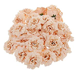 Rose Artificial Flower for Home Office Decor Silk Rose Flower 50 PCS 4