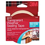Tools & Hardware : 3M Interior Transparent Weather Sealing Tape, 1.5-Inch by 10-Yard
