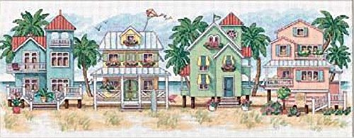 Dimensions Needlecrafts 13726 Counted Cross Stitch, Seaside Cottages