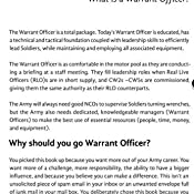 surviving wocs a guide to applying for warrant officer candidate