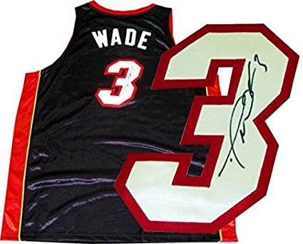 timeless design 688e7 f4cd4 Dwyane Wade Autographed Jersey - Autographed NBA Jerseys at ...