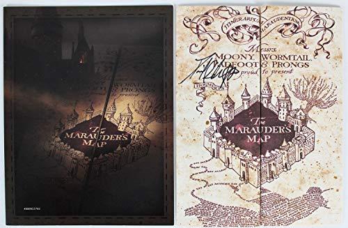 (Daniel Radcliffe Autographed Signed 9 X 26.5 Harry Potter The Marauder's Map Bas #F84006 )