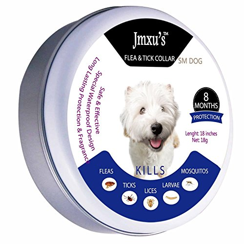 Jmxu Flea amp Tick Prevention for Dogs and Cats Flea and Tick collar for Dogs and Cats One Size Fits ALL 25 inch ALLERGY FREE 8 MONTH PROTECTION