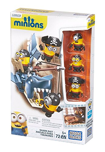 [Mega Bloks Minions Shark Bait Figure Pack] (Pirate Clothing And Accessories)