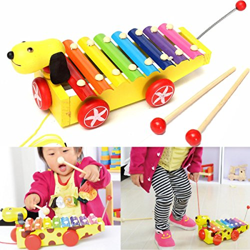 8 Note Baby Children Dog Xylophone Knock Piano Octave Mus...