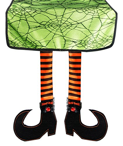 DII Polyester Witch Legs Halloween Table Runner for Halloween, Dinner Parties and Scary Movie Nights  - 16x75