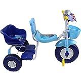 دراجة ثلاثة عجلات مقعدين للاطفال - ازرق