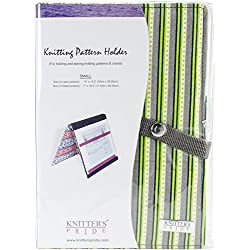 "Knitter's Pride KP800356 Fold-Up Knitting Pattern Holder 7""X10.5""-Greenery Small, Green"