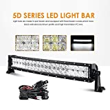 "Auxbeam LED Light Bar 22"" 120W LED Work Lights Off Road Driving Lights Spot Flood Combo Fog Lights Curved 5D Lens with Wiring Harness for Pickup Jeep Car Trucks SUV ATV UTV Ford"